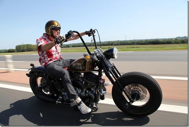 Parcours d'un Harleyiste pas manchot !